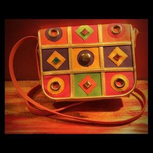 Handbags - Retro 80's color block crossbody bag